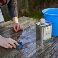 Savon liquide huile de lin couleur d'or