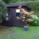 Abri de jardin (noir mat)